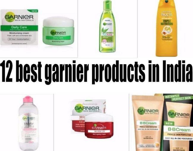 12 Productos garnier mejores en la India: la piel, el pelo