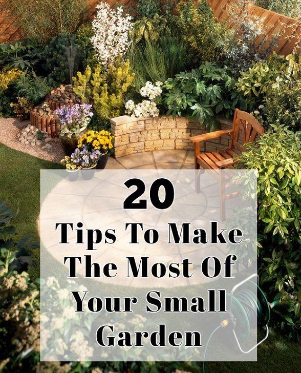 20 Consejos para aprovechar al máximo de su pequeño jardín