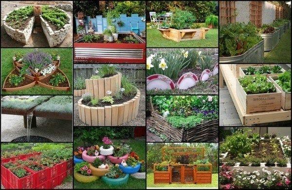 20 Único y diversión planteado ideas de jardín de la cama
