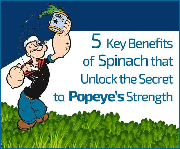 5 Los beneficios clave de la espinaca que desbloquear el secreto de la fuerza de Popeye