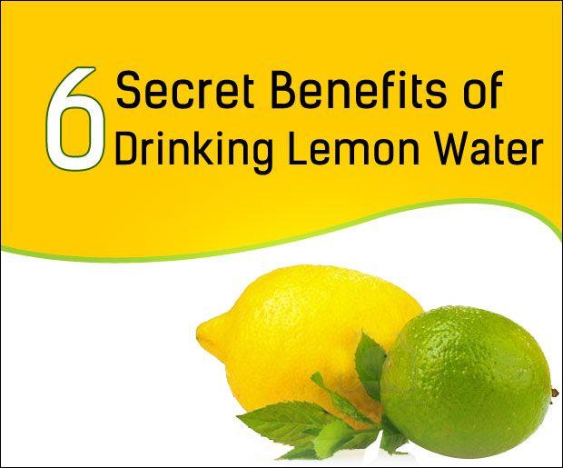 6 Beneficios secretas de agua potable de limón