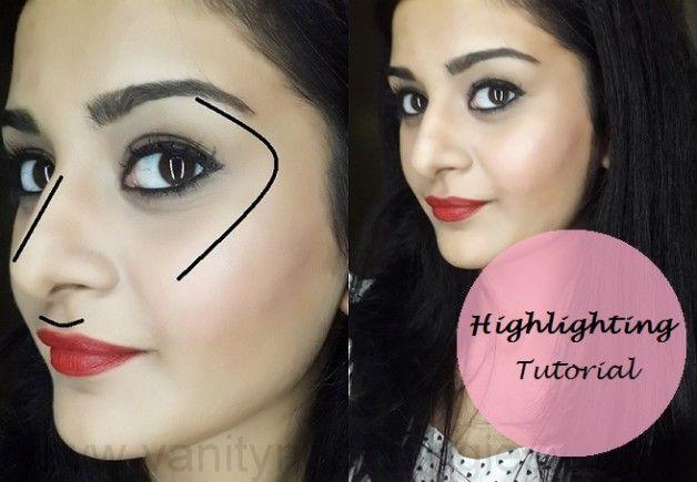 Tutorial: cómo poner de relieve la cara (+ pasos utilizan productos de maquillaje)
